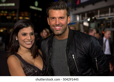 BERLIN - GERMANY - October 21: Tanja Tischewitsch and Jay Khan at the German premiere from Jack Reacher - Kein Weg Zurück at CineStar,Sony Center on October 21, 2016 in Berlin, Germany..