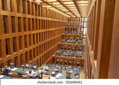 Berlin, Germany - October 26, 2013: Humboldt University Library in Berlin. It is one of the most advanced scientific libraries in Germany.