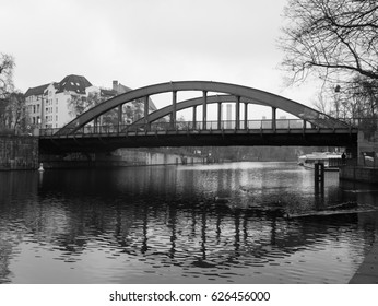 Berlin, Germany - An old bridge on the outskirts of the Charlottenburg Palace - February 2017