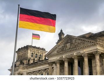 Berlin, Germany : Reichstag Building in Berlin, Seat of the German Parliament - Deutscher Bundestag, Germany