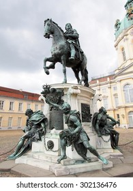 BERLIN, GERMANY - SEP 17: Equestrian Statue of Frederick The Great at Charlottenburg Palace in Berlin, Germany on September 17, 2013. Berlin is the capital and largest city in Germany.