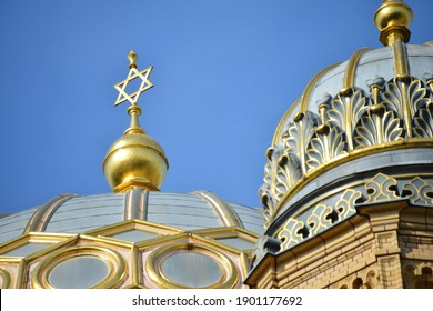 Berlin, Germany - Sepember 23, 2019: The New Synagogue - Neue Synagoge - on Oranienburger Strasse in Berlin, Germany