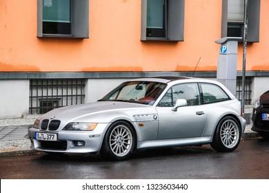 Berlin, Germany - September 11, 2013: Motor car BMW Z3 (E36/8) in the city street.