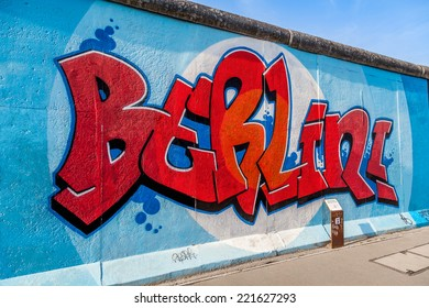 BERLIN, GERMANY - SEPTEMBER 15: Berlin Wall graffiti seen on SEPTEMBER 15, 2014, Berlin, East Side Gallery. It's a 1.3 km long part of original Berlin Wall which collapsed in 1989.