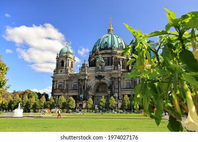 Berlin, Germany - September 17, 2020: Visiting the Berlin Cathedral on a sunny day in September.