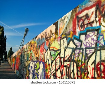 BERLIN, GERMANY - SEPTEMBER 19: Ruins of Berlin Wall (in German, Berliner Mauer) on September 19, 2010 in Berlin, Germany. Fall of the Berlin Wall, November 9/10, 1989.