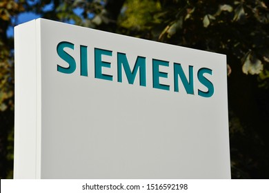 Berlin / Germany - September 22, 2019: Headquarters of Siemens AG in Berlin, Germany - Siemens is a German multinational conglomerate company and largest industrial manufacturing company in Europe