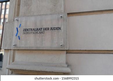 Berlin / Germany - September 23, 2019: Headquarters of Central Council of Jews - Zentralrat der Juden in Deutschland - Leo Baeck House in Berlin, Germany