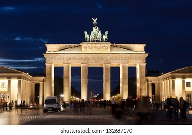 BERLIN, GERMANY - SEPTEMBER 24:  Brandenburg Gate on September 24, 2012 in Berlin, Germany. The Brandenburg Gate is a former city gate and one of the most well-known landmarks of Berlin and Germany.