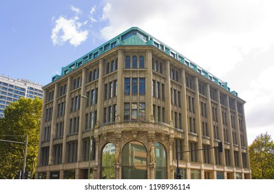 BERLIN, GERMANY - September 26, 2018: Ancient buildings in Old Town of Berlin