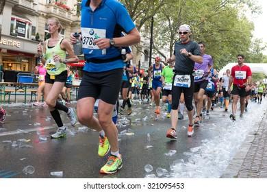 BERLIN, GERMANY - SEPTEMBER 27, 2015: Marathon Berlin