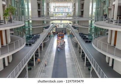 Berlin, Germany - September 27, 2018: Paul-Lobe-Haus in the government district of Berlin. Where politics is made in Germany.