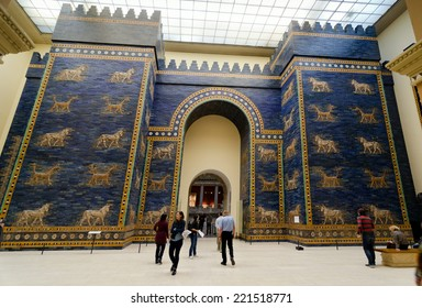 BERLIN, GERMANY - SEPTEMBER 28: Ishtar Gate in the Pergamon Museum on September 28, 2013 in Berlin, Germany