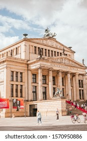 Berlin, Germany - September 5, 2019: facade of the concert hall also known as Konzerthaus Berlin on Gendarmenmarkt square.
