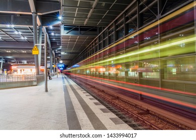 BERLIN, GERMANY - SEPTEMBER 6, 2017: View of Berlin S-Bahn (rapid transit railway system) station Sudkreuz.