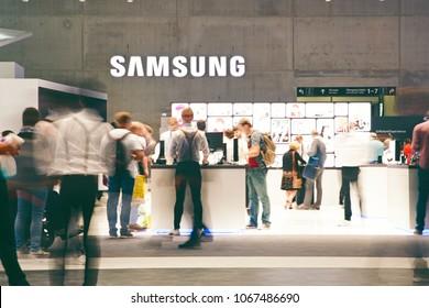 Berlin, Germany- September 6.,2017., Samsung exhibition pavilion
