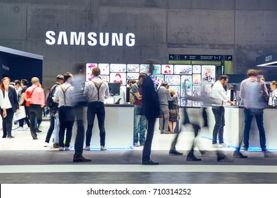 Berlin, Germany- September 6.,2017., Samsung exhibition pavilion