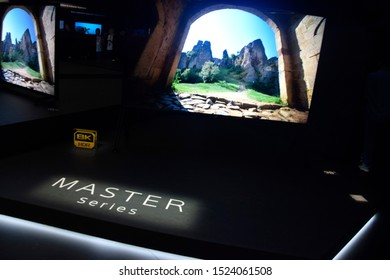 Berlin, Germany – September 6th, 2019: Master Series 8K HDR TVs at Sony booth at IFA 2019