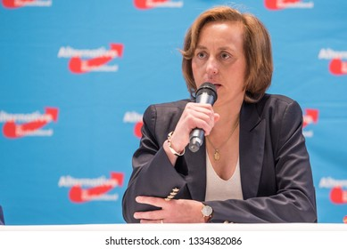 Berlin, Germany - September 8th 2017: Beatrix von Storch speaking at an AfD election event in Berlin, Germany.