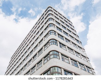 BERLIN, GERMANY -: The Shell Haus aka Gasag building is a classical modernist architectural masterpiece designed by Emil Fahrenkamp in 1932