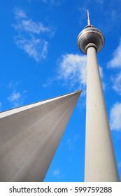 Berlin, Germany: Television Tower (Fernsehturm) in Alexanderplatz. the TV tower is the highest tower in Europe