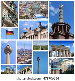 Berlin, Germany - travel photo collage with city architecture.