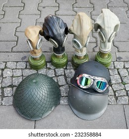 BERLIN, GERMANY/EUROPE - SEPTEMBER 15 : Second World War memorabilia for sale at Checkpoint Charlie in Berlin Germany on September 15, 2014