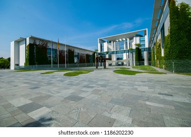 Berlin, Germany-July 20,2018: Federal Chancellery The official seat of the Federal Chancellor