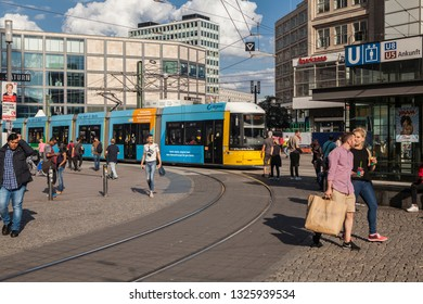 BERLIN, GERMANY-SEP 26, 2018: Berlin is the capital and largest city of Germany by both area and population. It is surrounded by the state of Brandenburg, and contiguous with its capital, Potsdam.