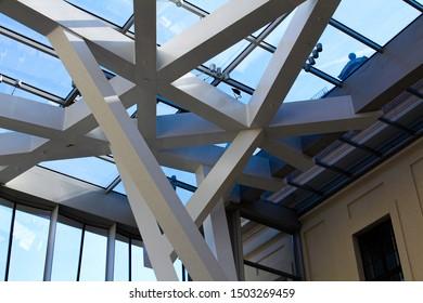 Berlin / Hermany - 03.30.2017: Jewish Museum Berlin, ceiling