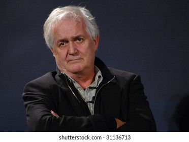 BERLIN - JANUARY 21 : Swedish writer Henning Mankell looks into the audience at a reading session January 21, 2006  in Berlin.