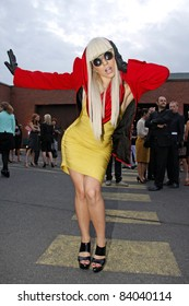 BERLIN - JULY 18: Lady Gaga attends the Mercedes Benz Fashion week Spring/Summer 2009 ready-to-wear fashion show of Michalsky on July 18, 2008 in Berlin, Germany.