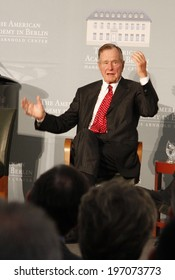 "BERLIN - JULY 3, 2008 - BERLIN: Former US President George Bush sen. after having received the ""Kissinger Prize"" in the American Academy, Berlin-Wannsee."