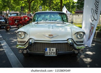 BERLIN - JUNE 09, 2018: Full-size car Chevrolet Bel Air, 1957. Classic Days Berlin 2018.