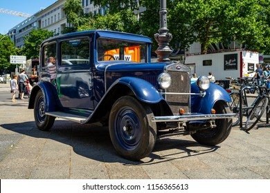 BERLIN - JUNE 09, 2018: Oldtimer Laurin&Klement-Skoda, 1923. Classic Days Berlin 2018.