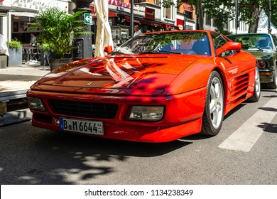 BERLIN - JUNE 09, 2018: Sports car Ferrari Testarossa 512TR. Classic Days Berlin 2018.