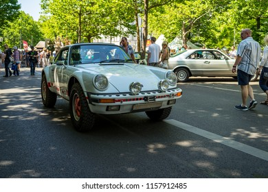 BERLIN - JUNE 09, 2018: Sports car Porsche 911 Carrera RS Rally. Classic Days Berlin 2018.