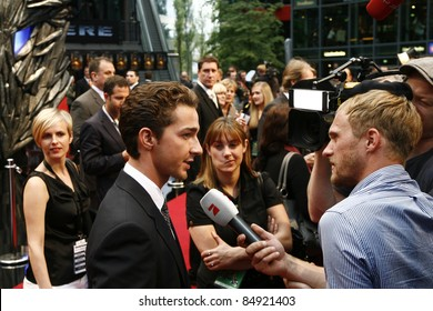 BERLIN - JUNE 14: Shia LaBeouf attends the German premiere of 'Transformers: Revenge Of The Fallen' at the Sony Center CineStar on June 14, 2009 in Berlin, Germany