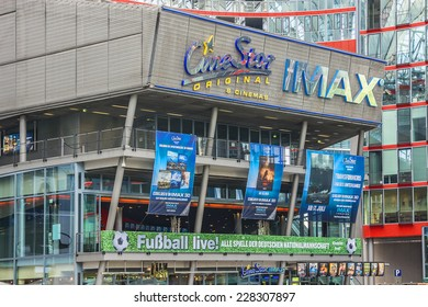 BERLIN - JUNE 16, 2014: Sony Center (2000) - Sony-sponsored complex located at Potsdamer Platz. Sony Center contains a mix of shops, restaurants, hotel, IMAX Theater, offices, art and film museums.