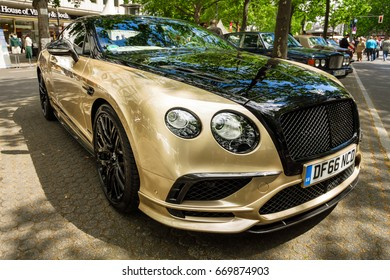 BERLIN - JUNE 17, 2017: Personal luxury car Bentley Continental Supersports, 2017. Classic Days Berlin 2017.