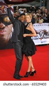 BERLIN - JUNE 17: Will Smith and Charlize Theron attend the germany premiere of the movie Hancock at the CineStar cinema. June 17 2008, Berlin