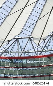 BERLIN - JUNE 18: Sony Center from within on June 18, 2012 in Berlin, Germany.