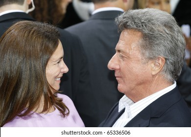 BERLIN - JUNE 23: Dustin Hoffman and his wife Lisa Gottsegen attends the Kung Fu Panda germany premiere at CineStar at the Potsdamer Platz. June 23 2008, Berlin