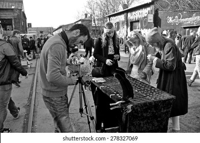 BERLIN - March 1st: Flowmarkt  (flea market). Taking place from April till October on every first and third Sunday on March 1 2015 in Berlin, Germany.