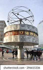 BERLIN MARCH 5: Alexanderplatz is very popular place among citizens and tourists on March 5, 2015.
