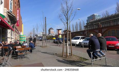 BERLIN MARCH 5: Warshawer strasse on March 5, 2015.