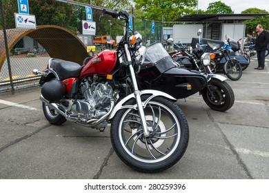 BERLIN - MAY 10, 2015: Motorbike Yamaha XV 750 Special. 28th Berlin-Brandenburg Oldtimer Day