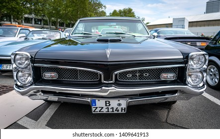 BERLIN - MAY 11, 2019: Muscle car Pontiac GTO, (first generation). 32th Berlin-Brandenburg Oldtimer Day.