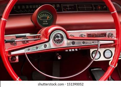 BERLIN - MAY 11: Cab car Chevrolet Impala SS Convertible, 26. Oldtimer-Tage Berlin-Brandenburg, May 11, 2013 Berlin, Germany