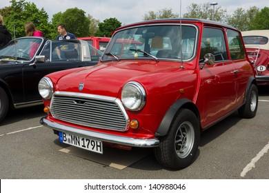 BERLIN - MAY 11: Car British Leyland Mini, 26th Oldtimer-Tage Berlin-Brandenburg, May 11, 2013 Berlin, Germany
